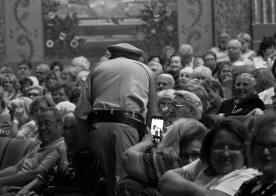 "The ""Mayberry Deputy,"" David Browning, works the crowd and stirs up laughs at the Paramount."