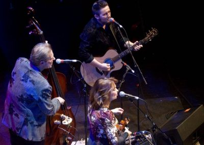 Popular bluegrass acts frequent the Paramount stage, such as the Grammy-winning SteelDrivers seen here.