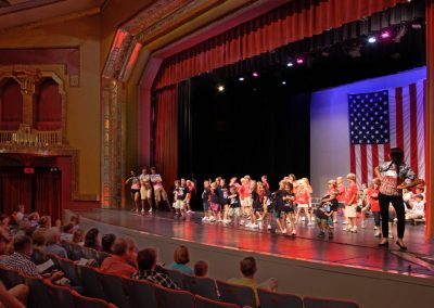 The Paramount holds several special events throughout the year. This one sees children performing on stage